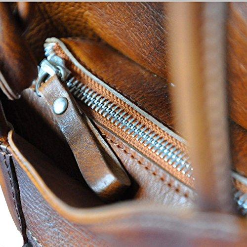 Pratesi Consuma borsa in vera pelle - B465 Bruce (Viola) Verde