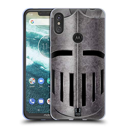 Head Case Designs Helm Mittelalterliche Rüstung Soft Gel Hülle für Motorola One Power (P30 Note)