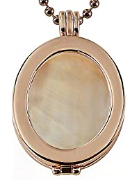 Eligo Coins–Mujer ovalado Coin con bañada coinfassung con circonita y cadena Set–epmsp041