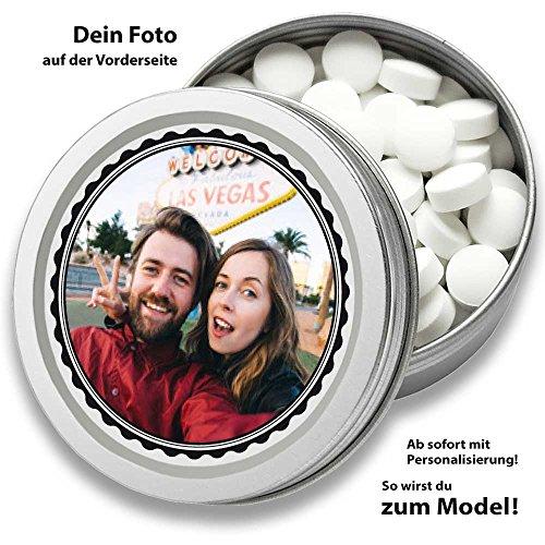 Personalisierte DOCTORS MINT, Pfefferminz Bonbons, mit Foto, das Geschenk für Männer, Frauen, 70 Pastillen in Retro Dose