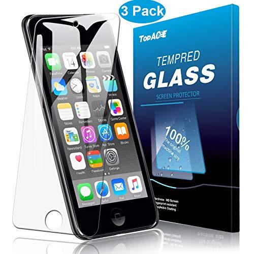 TopACE Panzerglas für Apple iPod touch 6/ 7 2019, (3 Stücke)Ultra Dünn 9H Härte HD Klar Schutzfolie Anti-Kratzer und Blasenfrei Gehärtetes Glas Displayschutz für Apple iPod touch 6 & 7 2019 Generation (Touch Ipod Neue Apple)