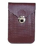 Ducomi® Grazia - Borsetta per Cellulare da Donna con Tracolla + Fantastico Omaggio Abbinato - Portacellulare da Giorno e da Viaggio per Telefono e Documenti - Dimensioni: 17 x 11 x 2 cm (Brown)