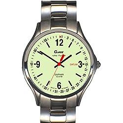 Garde' Uhren aus Ruhla Funkuhr mit Saphirglas Herrenuhr 94-26M nachtleuchtend