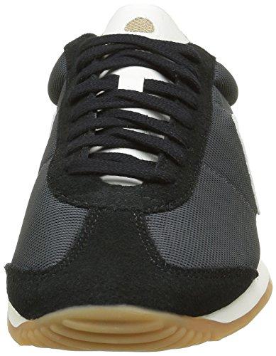 Le Coq Sportif Quartz Gum, Scarpe da Ginnastica Basse Unisex-Adulto Grigio (Charcoal/Black)