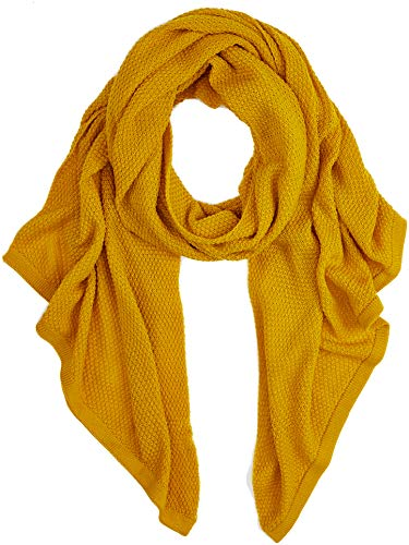 PIECES Damen Schal PCFILLI Long Scarf, Gelb Nugget Gold, One Size