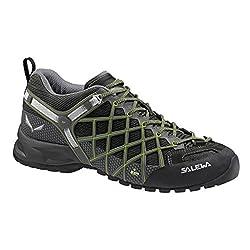 Salewa Damen Trekking- und Wanderhalbschuhe WS Wildfire S GTX, Schwarz (Black/Emerald), 40 EU (6.5 Damen UK)