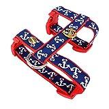 Queenly 4260466963301 Hundegeschirr Anker, XS, rot-blau