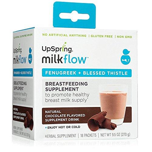 "UpSpring Baby Milkflowâ ""¢ Bockshornklee + Benediktenkraut Pulver Schokolade Drink-Mix (Mariendistel Bockshornklee)"
