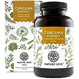 NATURE LOVE® Curcuma Extrakt Kompakt - Premium: Curcumin Gehalt EINER Kapsel entspricht dem von ca. 15.000mg Kurkuma - Hochdosiert aus 95% Extrakt - Laborgeprüft, vegan, hergestellt in Deutschland