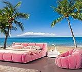 Papier Peint,peinture murale,Laine papier peint,Tropics Coast Sea Hawaii Palma Sable...