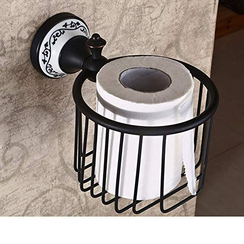 Paperhold Badezimmer Papierhandtuchhalter mit Regal rustikal Seidenpapier Papierkorb Toilettenpapierhalter Papierhandtuch Korb Tablett WC-Fach -