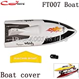 Generic Free Shipping Boat Cover ( Yellow ) FT007-02/1 For 4 Channel 2.4G RC Remote Control High Speed Racing Boat FT007 Parts