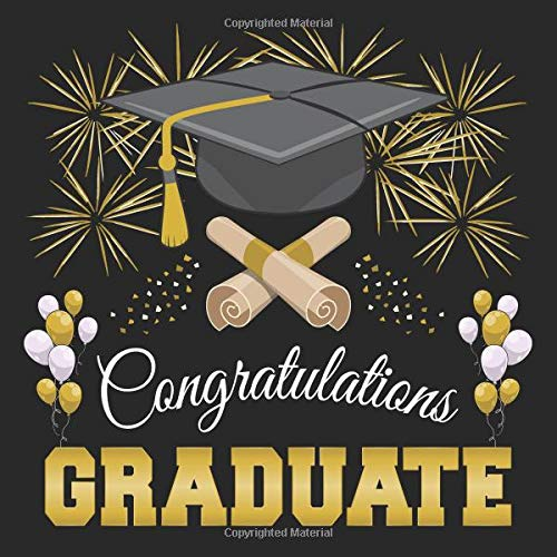 Graduation Guest Book: Congratulations Graduate GuestBook + Gift Log | Class of 2019 Graduation Party Memory Sign In Keepsake Journal | Black and Gold Cover (Für Halloween-party-ideen Kleinkinder)