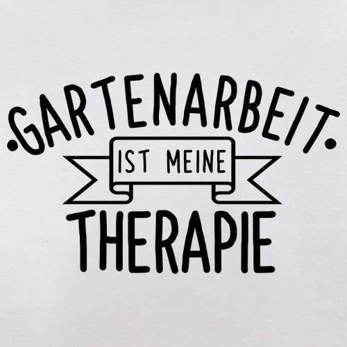 Gartenarbeit ist meine Therapie - Damen T-Shirt - 14 Farben Weiß