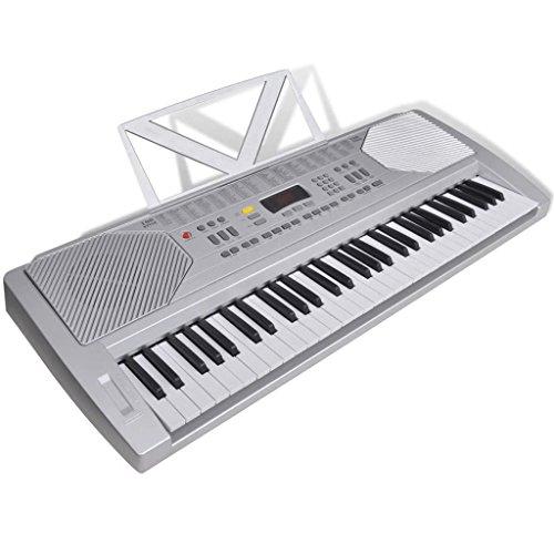 vidaXL Tastiera di pianoforte elettrica con supporto musicale