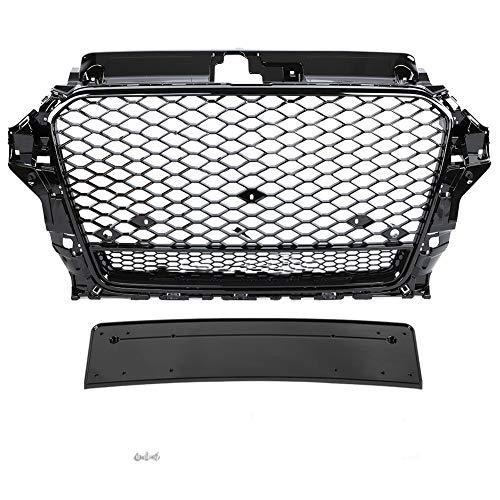KIMISS ABS Rejilla de Cubierta de parachoques delantero, Kit de rejilla de parachoques para A3 / S3 8V