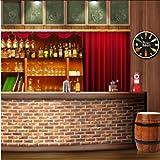 myvovo)Happy Hour Wine Time Wine Clock Booze Orologio da Parete Man Cave Pub Bar Decorazioni da Parete Ristorante Wine Drinker Regali alcolici Azienda vinicola Arte