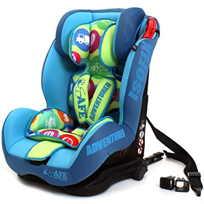 iSafe Isofix DUO TRIO PLUS ISOFIX + TOP TETHER CAR SEAT Carseat Car Seat Group 1 2 3 9kg - 36kg - Adventurer
