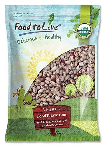 Bio Cranberry bohnen, 5 Pfund - Getrocknete Borlotti-Bohnen, Nicht-GVO, koscher, rohe Romano-Bohnen Masse, Produkt aus den USA