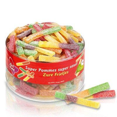 dutch tub Red Band Sour Stick Sweet 1200g Full Tub - Dutch Candy & Sweets
