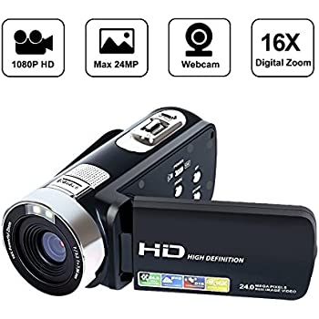 "Camcorder Digital video camera Recorder HD 1080P 24MP 16X Digital Zoom Video Camcorder with 2.7"" LCD and 270 Degree Rotation Screen"