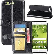 Huawei P10 Plus Case,Huawei P10 Plus Case,Folio Premium PU Leather Wallet Snap Case Folio Folio Flip Cover for Huawei P10 Plus Black
