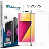 AVERCOM™ Full Cover Edge To Edge HD Clear Anti-Shatter Premium Tempered Glass Screen Protector Guard For Vivo V5 (White)