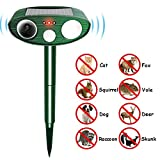 Focuspet Animal Repellent, Ultrasonic Pest Repeller Solar Powered Dog Cat Deterrent Outdoor Animal Scarer Waterproof with LED Flash Light Protect Your Yard Lawn Garden from Bird Cat Dog Fox