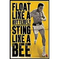1art1® Empire - Póster de Muhammad Ali con mensaje Float Like a Butterfly, Sting Like a Bee