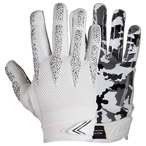 Prostyle Arrow, leicht Gepolsterte Football Receiver Handschuhe - weiß Gr. M