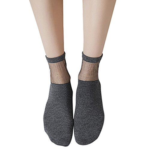 (NPRADLA 2018 Damen Socken Neue Ultra dünne Kurze Seide Strümpfe Bogen Transparente Söckchen)