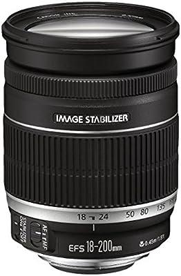 Canon EF-S 18-200mm f/3.5-5.6 IS - Objetivo para cámaras réflex Canon, estabilizador de imagen, color negro