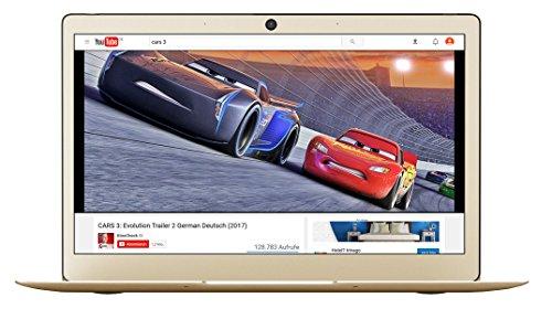 Odys Winbook 13 3378 cm 133 Zoll Ultrabook Notebook Intel Celeron Quad heart Prozessor N3450 64GB Festplatte 4GB RAM Intel HD Graphics 500 Win 10 destination champagne gold Notebooks