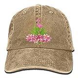 Jxrodekz Berretti da Baseball curvi da Donna Flamingo Flowers Denim Hat 6262