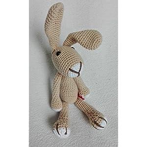 Hase Samy – beige – BIO Wolle – tolles Kuscheltier Geschenk für Kinder