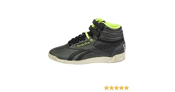 c5334d8cb5c36 Reebok - FS Hi - V61035 - Couleur  Creme-Vert-Noir - Pointure  41.0   Amazon.fr  Chaussures et Sacs