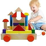 Lewo Blocchi di costruzione di legno dei bambini stabiliti educativi Giocattoli giocattolo Impilamento 30 pezzi