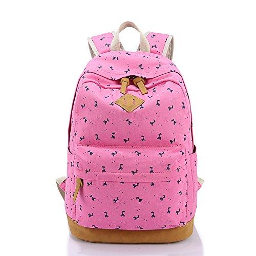 Borsa leggera dello studente della tela di canapa del sacchetto da 16 pollici del sacchetto del computer portatile per le ragazze adolescent Rose Rosso