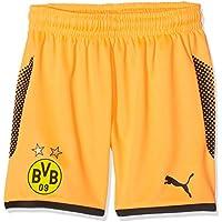 Pantalones Cortos Puma BVB GK, Otoño-Invierno, Infantil, Color Fluo Orange-Puma Black, tamaño 116