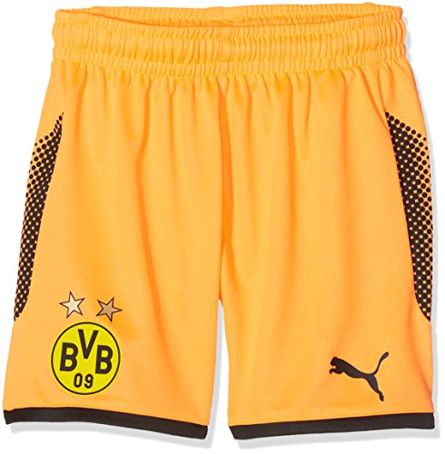Puma Kinder BVB GK Torwart Shorts, Fluo Orange Black, 140 (Shorts Gk)