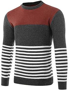 Otoño/Invierno suéter delgado hombres hombres chaqueta de alta calidad masculina suéter tejidos rayados