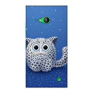 NEO WORLD Premium Dot Kitty Back Case Cover for Lumia 730