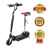 SABWAY® Patinete electrico para Niños - Negro Plegable con Asiento Scooter Mini con Silla y Acelerador