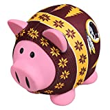 NFL Washington Redskins Sweater Pig Bank, Red