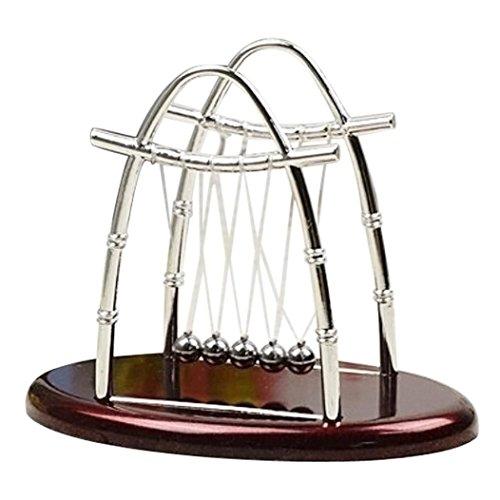 Wanshop® sail pendolo ovale classico newton culla equilibrio palle scienza psicologia puzzle gioco da scrivania ufficio decorazione scrivania toy, b