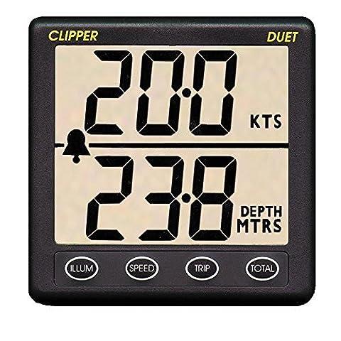 Clipper Duet Instrument Depth Speed Log w/Transducer by Clipper