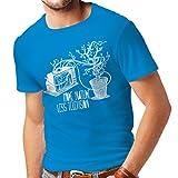 N4325 Männer T-Shirt Mehr Natur (X-Large Hellblau Mehrfarben)