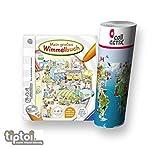 Ravensburger tiptoi  Mein großes Wimmelbuch + Kinder Wimmel-Weltkarte - Länder, Tiere, Kontinente
