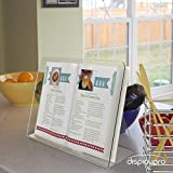 Acrylic Cookbook / Recipe Cook Book Stand - Free Shipping! (H264mm W380mm D128mm (DP1903))