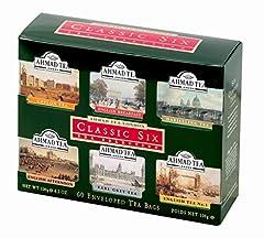 Idea Regalo - Ahmad Tea Classic Six, Confezione da 60 Bustine di Te